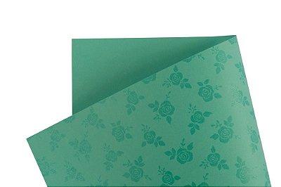 Papel Decor Rosas Aruba - Incolor 30,5x30,5cm com 5 unidades