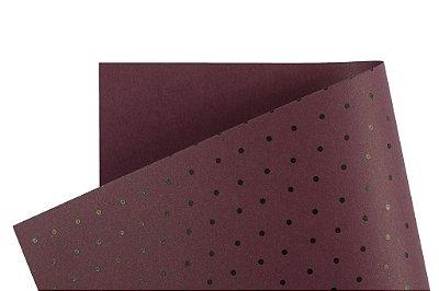 Papel Decor Bolinhas Mendoza - Preto 30,5x30,5cm com 5 unidades