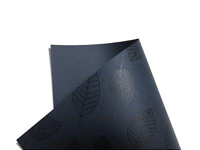 Papel Decor Folhas Porto Seguro - Preto 30,5x30,5cm com 5 unidades