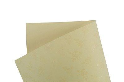 Papel Decor Rosas Creme - Incolor 30,5x30,5cm com 5 unidades