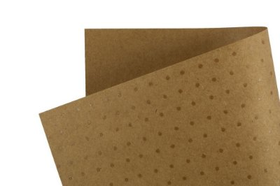 Papel Decor Bolinhas Kraft - Incolor 30,5x30,5cm com 5 unidades