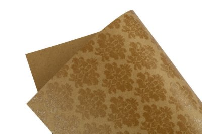 Papel Decor Arabesco Kraft - Incolor 30,5x30,5cm com 5 unidades