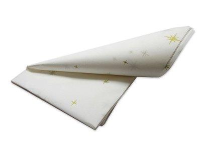 Papel de SEDA Estrela Ouro formato 50x70cm para presente com 3 unidades