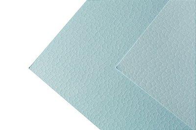 Papel Texture TX Leaves Água Marinha 30,5x30,5cm com 10 unidades