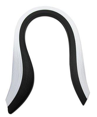Papel para Quilling Preto e Branco 5mm com 120 tiras