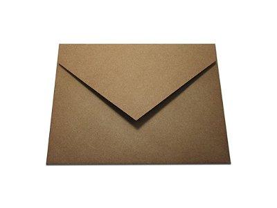 Envelopes convite Papel Kraft com 10 unidades