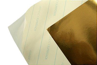 Papel Adesivo Ouro Brilho 30,5x30,5cm com 5 unidades