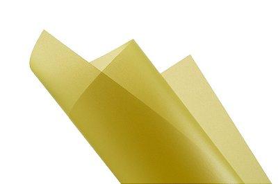 Papel vegetal Color Amarelo 30,5x30,5cm com 2 unidades