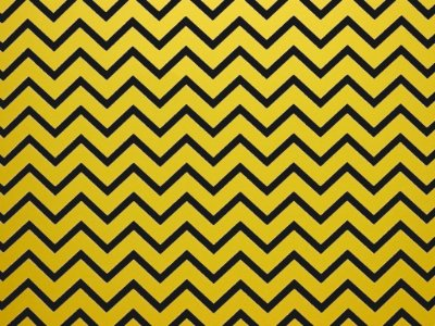Papel Decor Chevron Yellow - Preto 30,5x30,5cm com 5 unidades