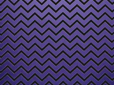Papel Decor Chevron Violet - Preto 30,5x30,5cm com 5 unidades
