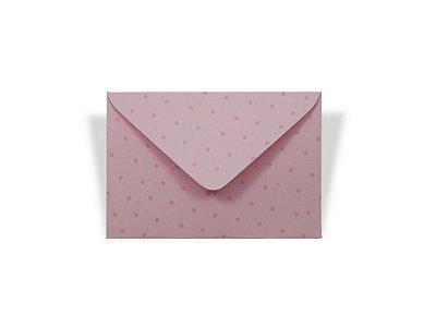 Envelopes visita Rosa Verona Decor Bolinhas Incolor - Lado Externo com 10 unidades