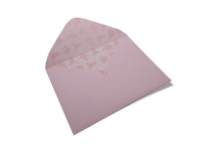 Envelopes carta Rosa Verona Decor Rosas Incolor - Lado Interno com 10 unidades