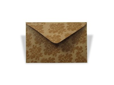 Envelopes visita Kraft Decor Arabesco Incolor - Lado Externo com 10 unidades