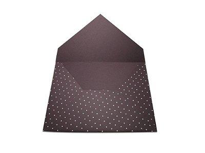 Envelopes convite Mendoza Decor Bolinhas Brancas - Lado Externo com 10 unidades