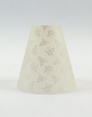 Cúpula de abajur em papel - Paper Lamp transparente decor Rosas