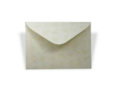 Envelopes carta Creme Decor Rosas Incolor - Lado Externo 10 unidades