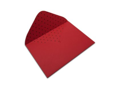 Envelopes carta Vermelho Decor Bolinhas Preto - Lado Interno 10 unidades
