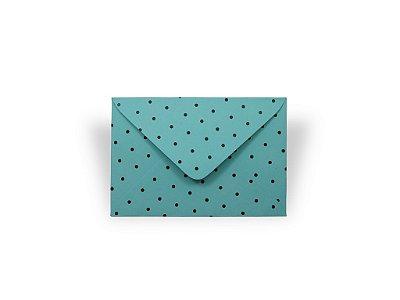 Envelopes visita Aruba Decor Bolinhas Pretas - Lado Externo com 10 unidades