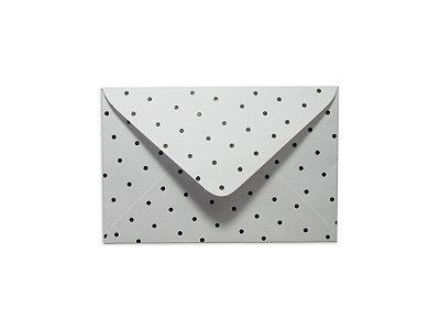 Envelopes visita Branco Decor Bolinhas Pretas - Lado Externo com 10 unidades