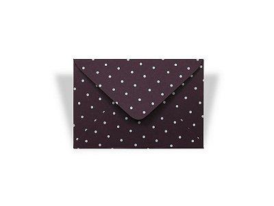 Envelopes visita Mendoza Decor Bolinhas Brancas - Lado Externa com 10 unidades