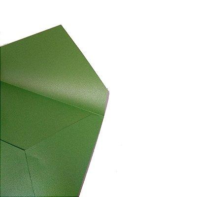Envelopes convite Metal America Green com 50 unidades