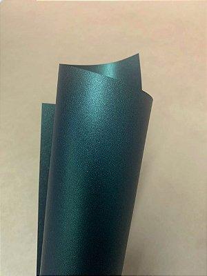 Papel Perolizado Verde Escuro 180g/m² - Formato 30,5x30,5cm com 10 folhas