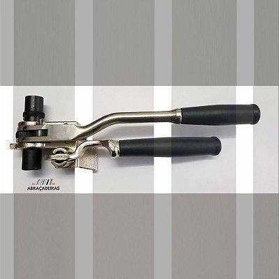 Maquina de Cintar Poste com Catraca - Ferramenta de Aperto e Corte Manual para Aplicação de Fitas de Aço Inox
