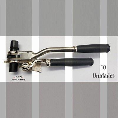 10 Maquinas de Cintar Poste com Catraca Fusimec - Ferramenta de Aperto e Corte para Aplicação de Fitas de Aço Inox (10 Unidades)