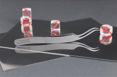 Pinça para Cílios Staleks - Série Expert 41 - Profissional Curva/Raio - TE-41-4