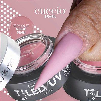 Gel T3 LED/UV Cuccio Pro -  Controle Total - OPAQUE Nude Pink - 28g - 7353