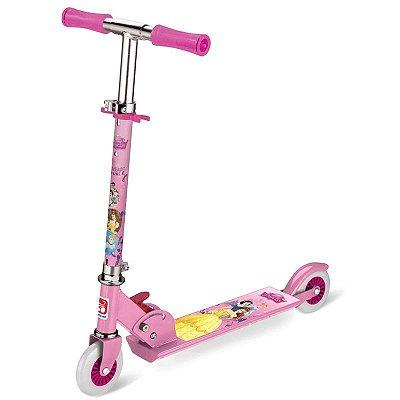 Patinete 2 Rodas Princesas Disney Rosa
