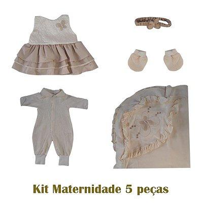 Saída Maternidade Macacão Feminino Bege
