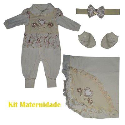 Saída Maternidade Macacão Feminino Nude