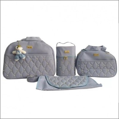 Bolsa Maternidade Azul Bebê Bolso Urso