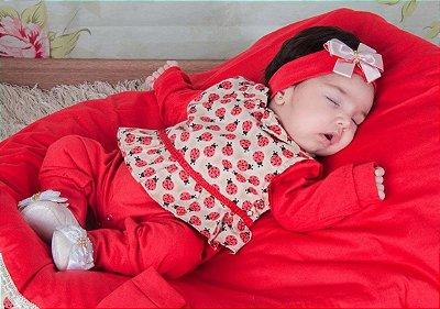 Saída de Maternidade Joaninha Vermelha