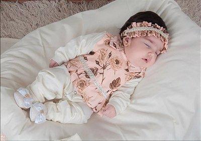 Saída de Maternidade Floral Rosê