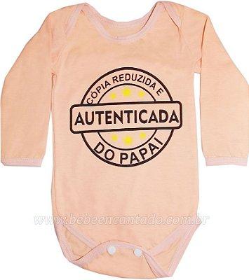 Body Bebê Manga Longa Frases Avulso