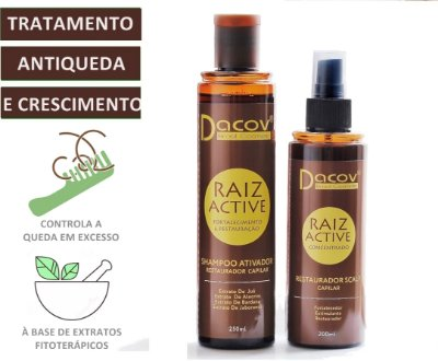 Kit Tratamento Raiz Active Antiqueda Crescimento Capilar (Shampoo + Tonico) a base de Fitoterápicos