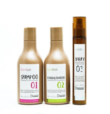 Kit Bontom Shampoo 300 ml + Condicionador 300 ml + Spray 120 ml