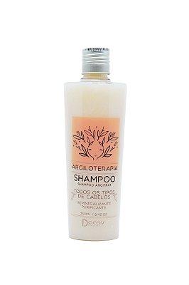 PROMOÇÃO Shampoo Argila Branca Remineralizante Purificante 250 ml Argiloterapia