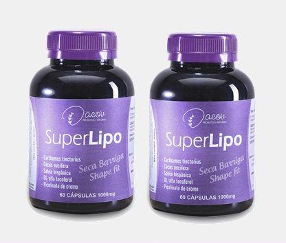 Super Lipo kit 2 frascos 120 cápsulas 1000mg  (1 Mês de Tratamento)