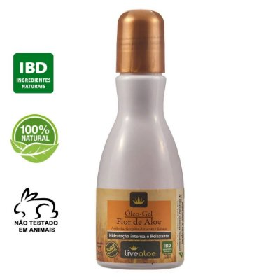 Óleo Gel Flor de Aloe Natural 120ml – Livealoe