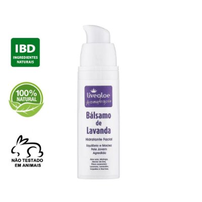 Bálsamo Facial Natural de Lavanda 30ml – Livealoe