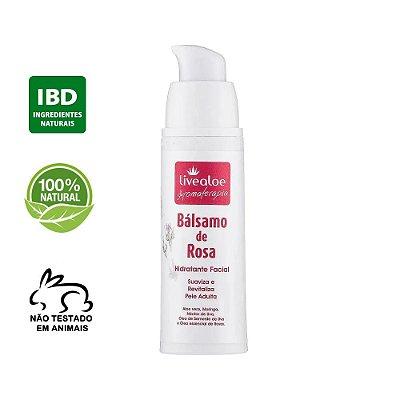 Hidratante Facial Bálsamo de Rosa Livealoe 30ml