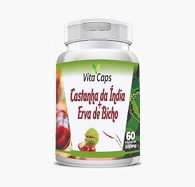 Castanha da Índia + Erva de Bicho + Hamamélis 60 Cápsulas Vita Caps