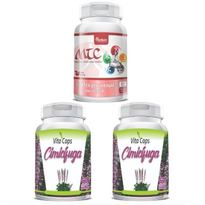 Kit 2 Cimicifuga e 1 Mulungu Cápsulas VitaCaps