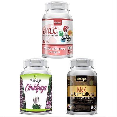 Kit 1 Cimicifuga + 1 Max Stimulus + 1 Mulungu Cápsulas VitaCaps