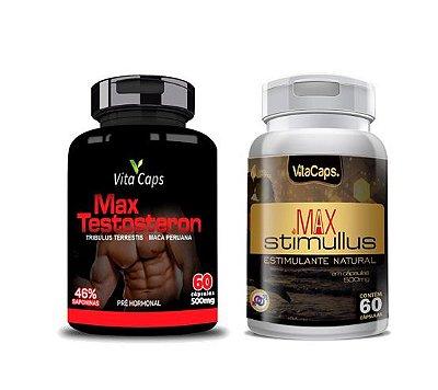 Kit 1 Max Testosteron  + 1 Max Stimulus Vita Caps