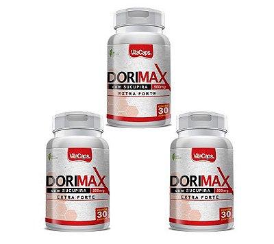 Kit 3 Dorimax 180 cápsulas 500mg Extra Forte