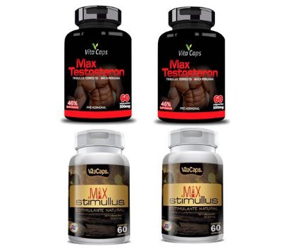 Kit 2 Max Testosteron  + 2 Max Stimulus Vita Caps